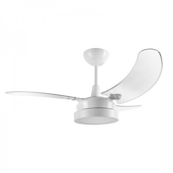 ventilador de teto tron buzios max led 3 pas branco transparente 1
