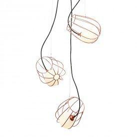 lustre pendente quality depot 1345 cobre g9 bivolt 1