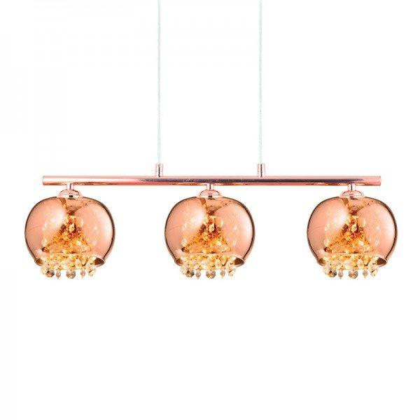 lustre pendente quality dublin 1379 g9 bivolt cobre 1