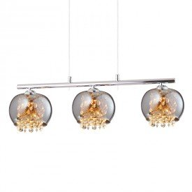 lustre pendente quality dublin 1379 g9 bivolt cromado 1