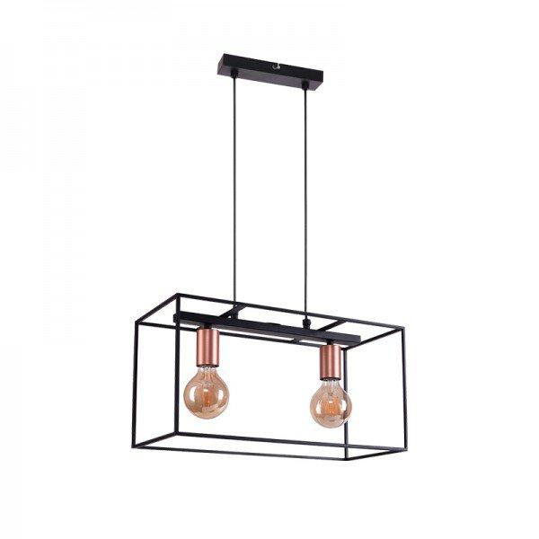 lustre pendente quality quadra 1359 preto e27 bivolt 1