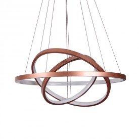 lustre pendente quality montreal 1303 led bivolt cobre 1