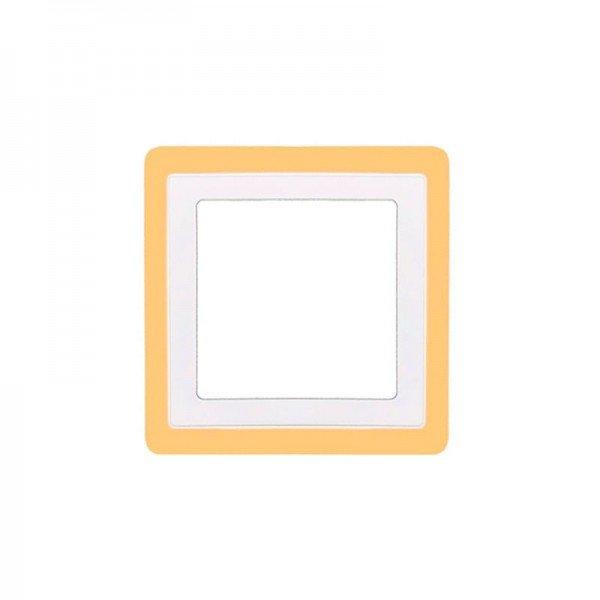 painel de led taschibra quadrado de embutir 16w dual color bivolt 1resultado