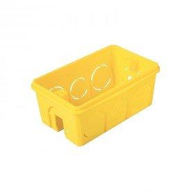 caixa de luz tramontina de embutir 4x2 retangular amarela 1resultado