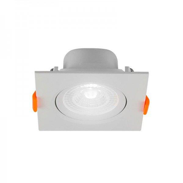 spot de led blumenau mr16 quadrado 6w bivolt 6500k luz brancaresultado