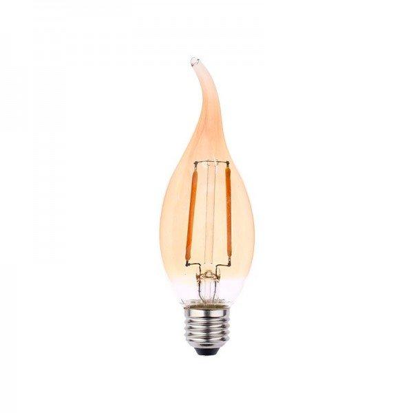 lampada led blumenau filamento vela chama ba35 2w bivolt e27resultado