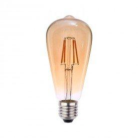 lampada led blumenau filamento pera st64 4w bivolt e27resultado