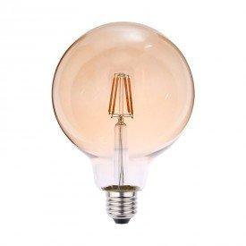 lampada led blumenau filamento globo g125 4w bivolt e27resultado