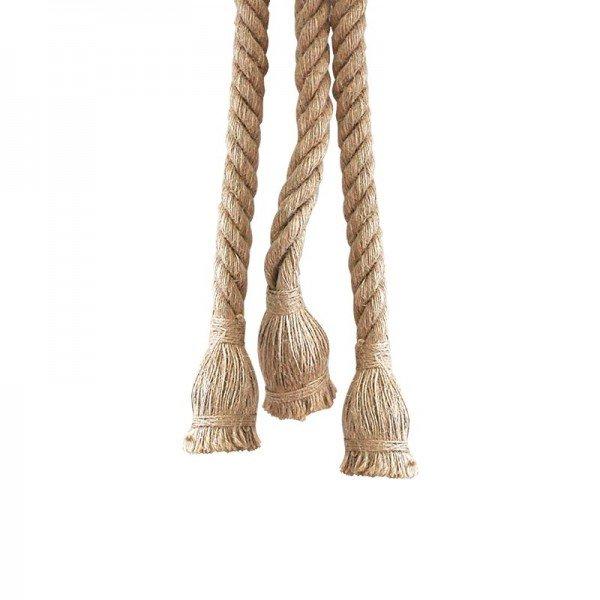 lustre pendente corda para 3 lampadas e27 bivolt 1resultado
