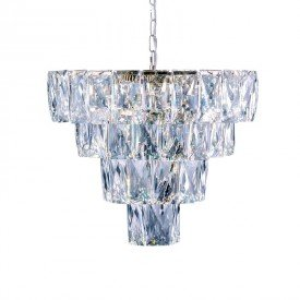 lustre pendente startec fasano 50cm cromado led bivolt 1resultado