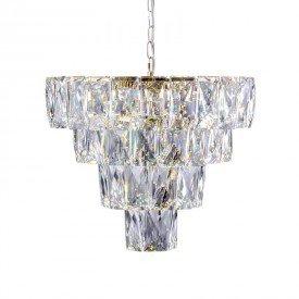 lustre pendente startec fasano 50cm dourado led bivolt 1resultado