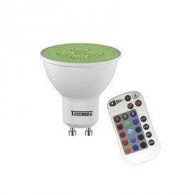 lampada led taschibra dicroica rgb colorida 5w bivolt gu10 com controle 1resultado