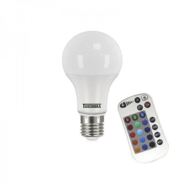 lampada led taschibra tkl rgb colorida 9w bivolt e27 com controle 1resultado