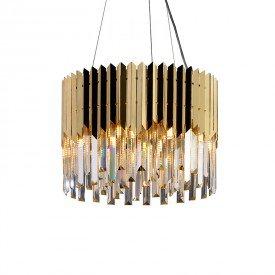 lustre pendente startec baluarte 40cm redondo dourado g9 bivolt 1