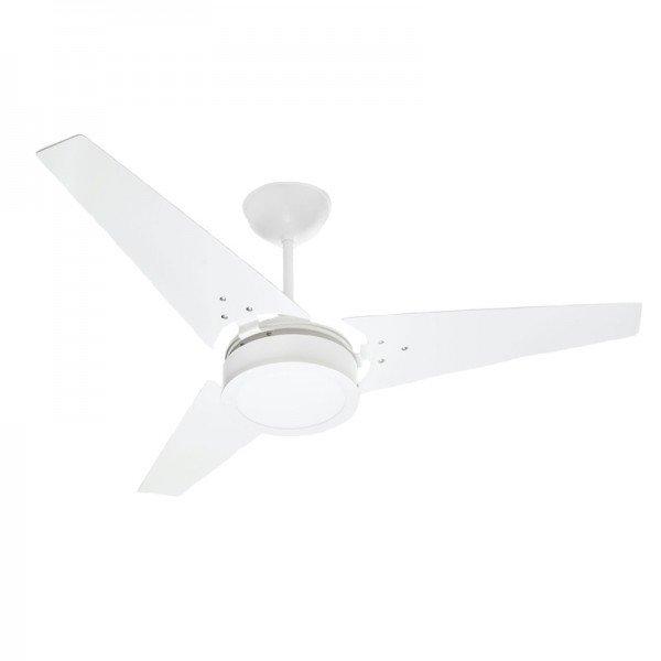 ventilador de teto venti delta ideal led com 3 pas branco 1