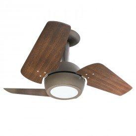 ventilador de teto venti delta loft led com 3 pas marrom 1