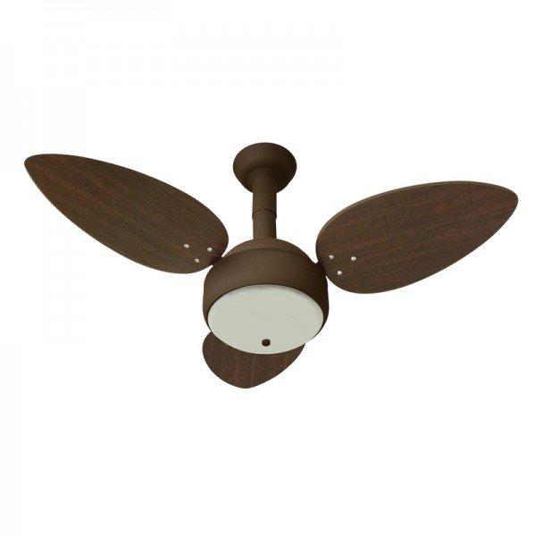 ventilador de teto venti delta miray com 3 pas marrom 1