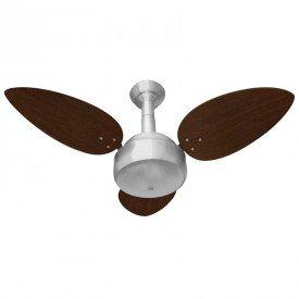 ventilador de teto venti delta miray com 3 pas tabaco prata 1