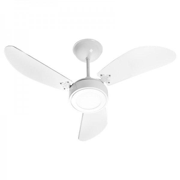ventilador de teto venti delta new cristal led com 3 pas branco 1