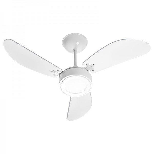 ventilador de teto venti delta new cristal led com 3 pas transparente branco 1