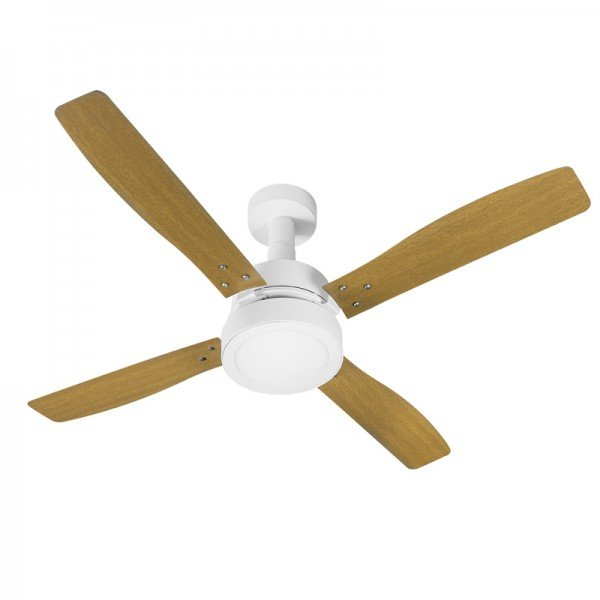 ventilador de teto venti delta vintage led com 4 pas marrom branco 1