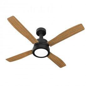 ventilador de teto venti delta vintage led com 4 pas marrom preto 1
