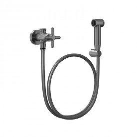 ducha higienica docol liss 921170 com flexivel de 1 20m grafite escovado 1