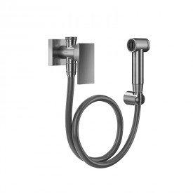 ducha higienica docol new edge 925670 com flexivel de 1 20m grafite escovado 1