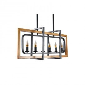 lustre pendente candle retangular ld5086 preto bivolt 1