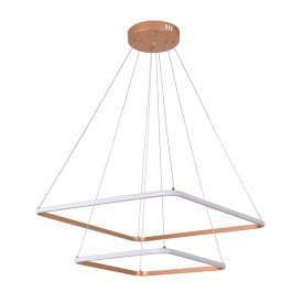 lustre pendente inverse quadrado d1293 led bivolt cobre 1