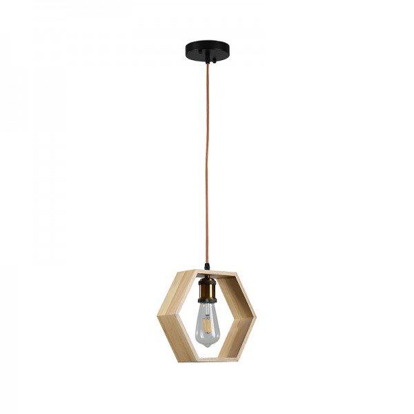 lustre pendente umio hexagono ld5103 madeira e27 bivolt 1
