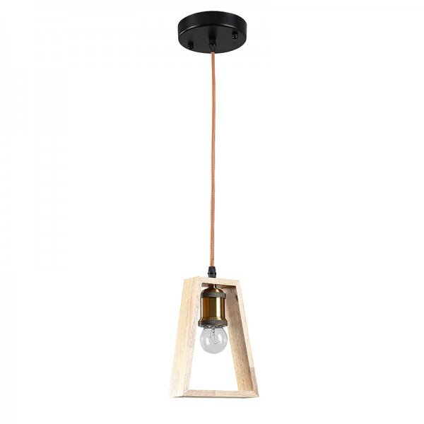 lustre pendente umio triangulo ld5104 madeira e27 bivolt 1