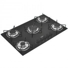 cooktop a gas tramontina brasil 94708501 com 5 bocas preto 1