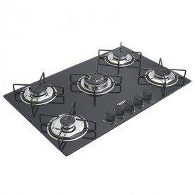 cooktop a gas tramontina brasil 94708502 com 5 bocas preto 1