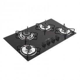 cooktop a gas tramontina brasil trapezio 94753501 com 4 bocas preto 1