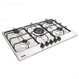 cooktop a gas tramontina new penta 94716111 com 5 bocas inox 1