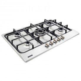 cooktop a gas tramontina new penta 94716114 com 5 bocas inox 1