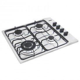 cooktop a gas tramontina new square 94701211 com 4 bocas inox 1