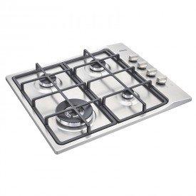 cooktop a gas tramontina square 94701214 com 4 bocas inox 1