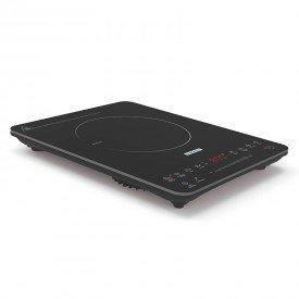 cooktop portatil por inducao tramontina slim touch 9471413 com 1 boca preto 1
