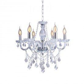 lustre pendente startec france 6 cristal transparente e14 bivolt 1