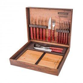 kit churrasco 15 pecas tramontina 21198770 vermelho 1