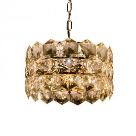 lustre pendente startec cristalle redondo 45cm champagne g9 bivolt 1