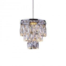 lustre pendente startec mini florenca cromado g9 bivolt 1