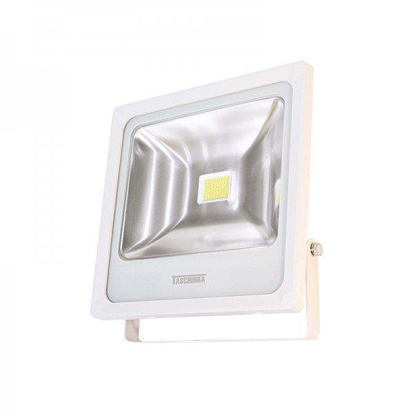 refletor taschibra tr led 50 50w branco 3000k luz amarela bivolt