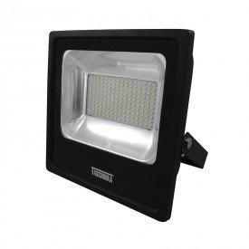 refletor taschibra tr led 100 100w preto 6500k luz branca bivolt