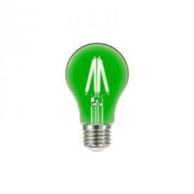 lampada led taschibra filamento color a60 4w bivolt e27 verde