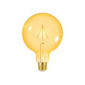 lampada led taschibra filamento vintage g125 3w bivolt e27