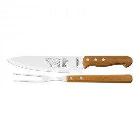 kit churrasco tramontina 2 pecas trinchante 22399074 madeira natural 1