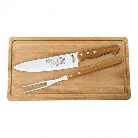 kit churrasco tramontina 3 pecas 22399076 madeira natural 1